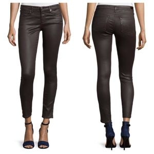 Adriano Goldschmeid Leatherette Ankle Skinny Jeans